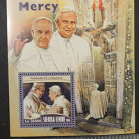 Sierra Leone 2016 holy year of mercy popes benedict xvi francis religion s/sheet mnh
