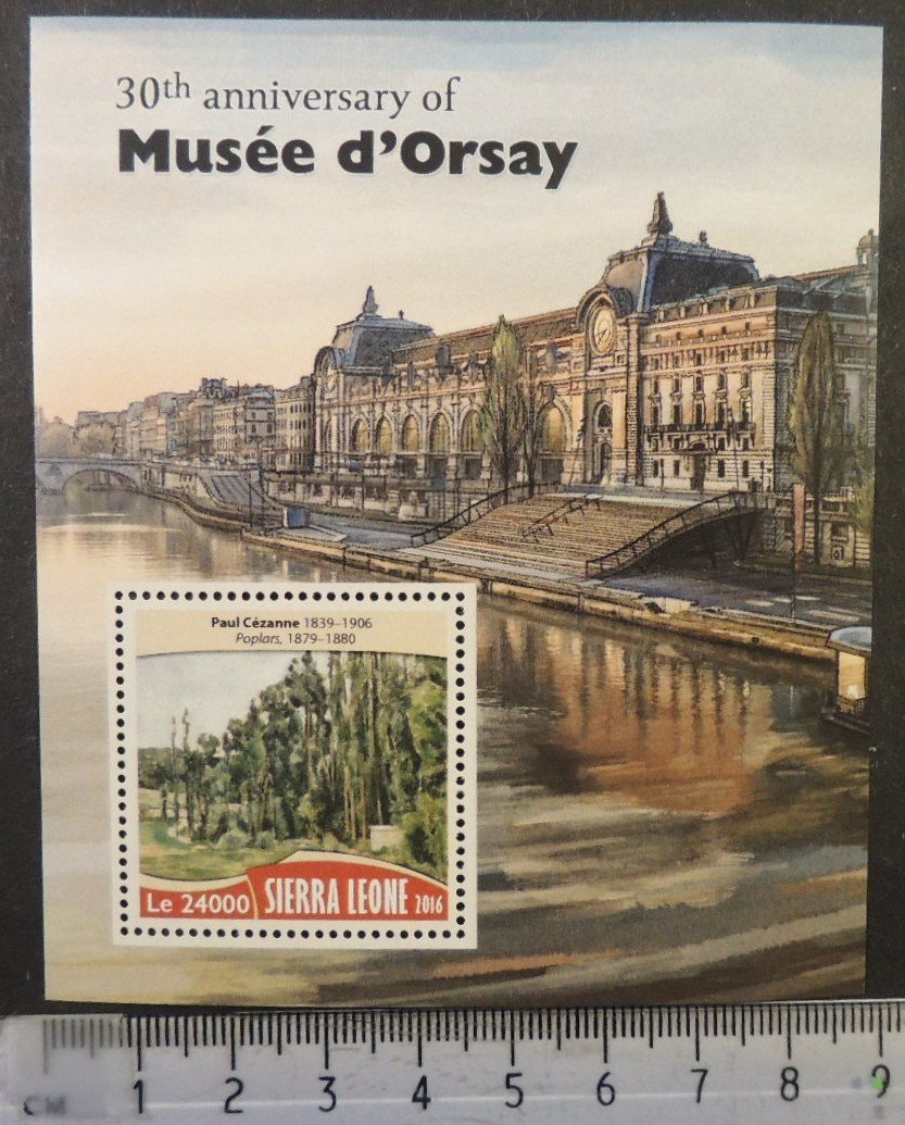 Sierra Leone 2016 musee d'orsay museum s/sheet mnh
