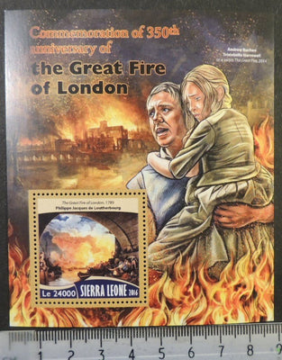 Sierra Leone 2016 great fire of london disasters s/sheet mnh
