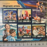 Sierra Leone 2016 european migrant crisis refugees popes children m/sheet mnh