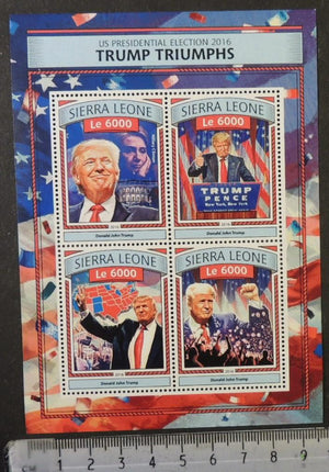 Sierra Leone 2016 donald trump triumphs us presidents americana m/sheet mnh