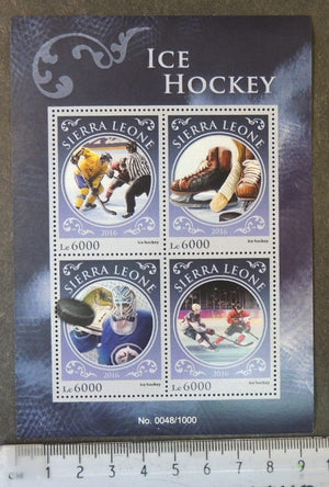 Sierra Leone 2016 sport ice hockey m/sheet mnh