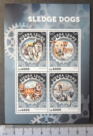 Sierra Leone 2016 sledge dogs animals m/sheet mnh