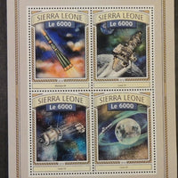 Sierra Leone 2016 space moon luna 10 molniya-m satellite m/sheet mnh