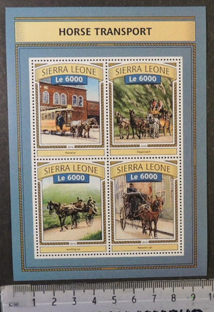 Sierra Leone 2016 horse drawn transport horses m/sheet mnh