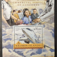 Solomon Islands 2016 aviation transport concorde air france s/sheet mnh