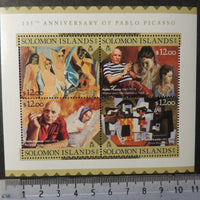 Solomon Islands 2016 art pablo picasso m/sheet mnh