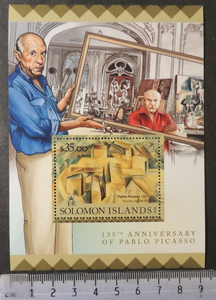 Solomon Islands 2016 art pablo picasso s/sheet mnh
