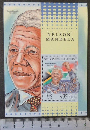 Solomon Islands 2016 nelson mandela human rights s/sheet mnh