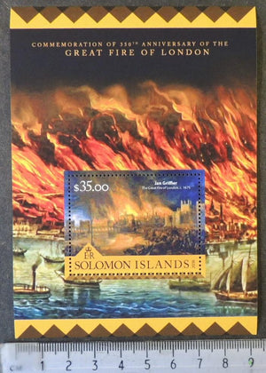 Solomon Islands 2016 great fire of london disasters s/sheet mnh