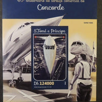St Thomas 2016 concorde aviation transport m/sheet mnh