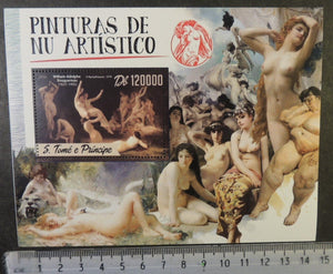 St Thomas 2016 art nudes paintings bouguereau women s/sheet mnh