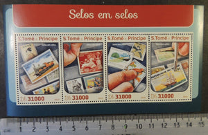 St Thomas 2016 stamp on stamp philatelic m/sheet mnh