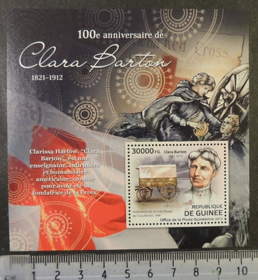 Guinea 2012 clara barton nurse medical s/sheet mnh