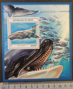 Niger 2016 whales marine life s/sheet mnh
