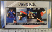 Niger 2016 table tennis sport m/sheet mnh