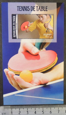 Niger 2016 table tennis sport s/sheet mnh