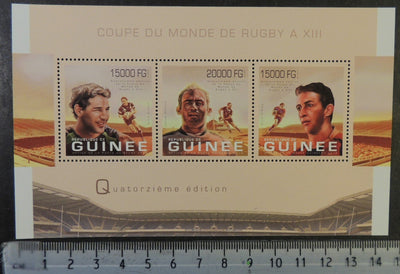 Guinea 2013 world cup rugby sport m/sheet mnh