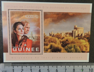 Guinea 2013 william and kate royalty windsor castless/sheet mnh