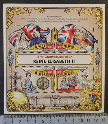 Niger 2016 queen elizabeth II royalty flags william kate m/sheet mnh
