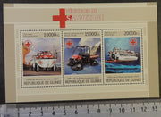 Guinea 2013 rescue vehicles red cross m/sheet mnh