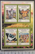 Niger 2017 butterflies insects m/sheet mnh