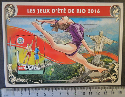 Niger 2016 olympic games rio sport basketball gymnastics m/sheet mnh