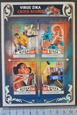 Niger 2016 zika virus red cross children medical diseases m/sheet mnh