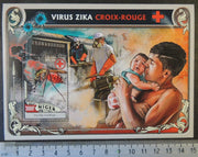 Niger 2016 zika virus red cross children medical diseases s/sheet mnh
