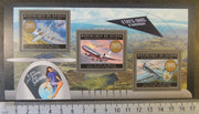 Guinea 2012 aircraft aviation militaria transport USA americana women f-15 ab eagle dc-10 seversky m/sheet mnh