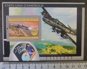 Guinea 2012 aircraft aviation militaria transport USA americana x-15 flying fortress women s/sheet mnh