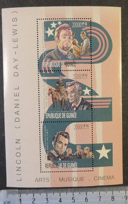 Guinea 2013 cinema lincoln daniel day-lewis americana m/sheet mnh