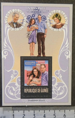 Guinea 2013 birth prince george william kate royalty s/sheet mnh