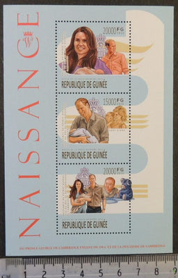 Guinea 2013 birth prince george william kate royalty m/sheet mnh #2