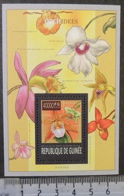 Guinea 2013 orchids flowers s/sheet mnh