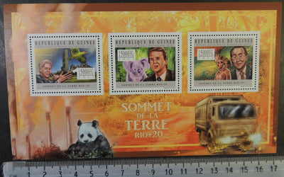 Guinea 2012 earth summit bill clinton koala panda bear environment ban ki-moon m/sheet mnh