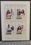 Solomon Islands 2013 william kate prince george birth royalty children m/sheet mnh