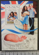 Solomon Islands 2013 william kate prince george birth royalty children s/sheet mnh