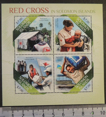 Solomon Islands 2013 red cross medical flags children women m/sheet mnh