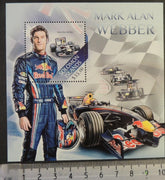 Solomon Islands 2013 formula 1 one mark webber s/sheet mnh