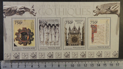 Togo 2013 gothic art and architecture cathedral leon religion m/sheet mnh