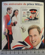 Togo 2012 prince william kate royalty helicopters aviation flags s/sheet mnh