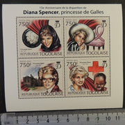 Togo 2012 diana spencer royalty children red cross m/sheet mnh