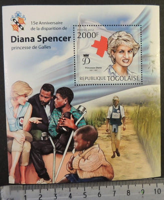 Togo 2012 diana spencer royalty children red cross disability s/sheet mnh