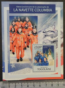 Togo 2013 columbia space shuttle disaster s/sheet mnh