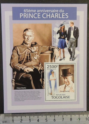 Togo 2013 prince charles royalty william kate diana s/sheet mnh