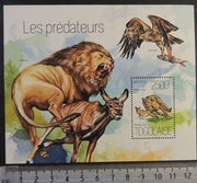 Togo 2013 predators jaguars lions cats fish s/sheet mnh