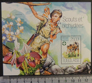 Togo 2013 scouts children flowers orchids art s/sheet mnh