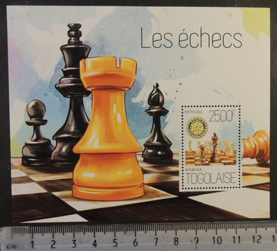 Togo 2013 chess rotary s/sheet mnh