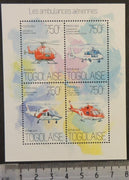 Togo 2013 air ambulances emergengy services helicopters aviation medical m/sheet mnh